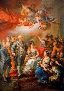 King Charles IV of Spain and his family pay a visit to the University of Valencia in 1802 Vicente Lopez y Portana