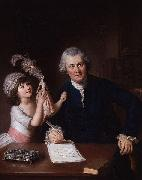 Portrait of Christopher Anstey with his daughter William Hoare