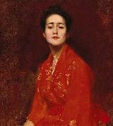 Study of a Girl in Japanese Dress William Merrit Chase