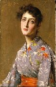 Girl in a Japanese Costume William Merrit Chase