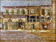 Old Absinthe House, corner of Bourbon and Bienville Streets, New Orleans. William Woodward
