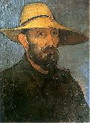 Self-portrait in straw hat Wladyslaw slewinski