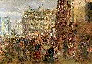 Weekday in Paris Adolph von Menzel