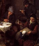 Peasant Family in a Cottage Interior Adriaen van ostade