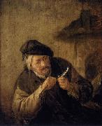 Cutting the Feather Adriaen van ostade