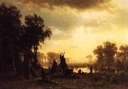 An Indian Encampment Bierstadt