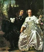Abraham del Court and his wife Maria de Keerssegieter Bartholomeus van der Helst