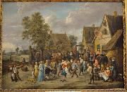 Village feast with an aristocratic couple David Teniers the Younger