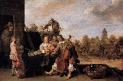 The Painter and His Family David Teniers the Younger