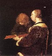 The Reading Lesson Gerard ter Borch the Younger
