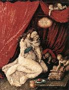 Virgin and Child in a Room Hans Baldung Grien