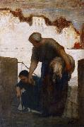 The Washerwoman Honore  Daumier