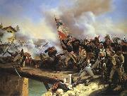 Napoleon Bonaparte leading his troops over the bridge of Arcole Horace Vernet
