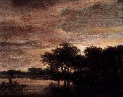 Woodland Scene with Lake Jacob Isaacksz. van Ruisdael