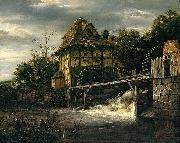 Two Undershot Watermills with Men Opening a Sluice Jacob Isaacksz. van Ruisdael