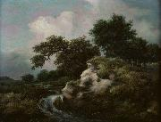 Landscape with Dune and Small Waterfall Jacob Isaacksz. van Ruisdael
