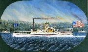 Confidence, Hudson River steamboat built 1849, later transferred to California James Bard