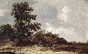 Cottages with Haystack by a Muddy Track. Jan van Goyen