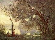 Erinnerung an Mortefontaine camille corot