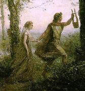 Modification of Orphee ramenant Eurydice des enfers camille corot