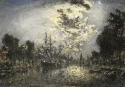 Rotterdam in the Moonlight Johan Barthold Jongkind