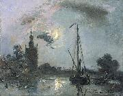 Overschie in the Moonlight Johan Barthold Jongkind