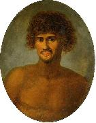 Head and shoulders portrait of a young Tahitian male John Webber