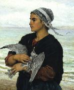 The Wounded Sea Gull Jules Breton