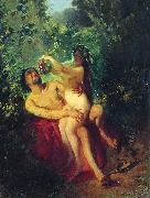 Satyr and Nymph Konstantin Makovsky