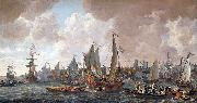 The arrival of King Charles II of England in Rotterdam, 24 May 1660. Lieve Verschuier