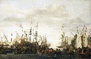 The keelhauling, according to tradition, of the ship's doctor of Admiral Jan van Nes Lieve Verschuier