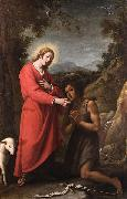 Jesus and John the Baptist meet in their youth Matteo Rosselli