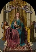 The Virgin and Child Enthroned, with Four Angels Quentin Matsys