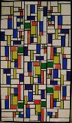 Color designs for Stained-Glass Composition V. Theo van Doesburg