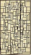 Design for Stained-Glass Composition V. Theo van Doesburg