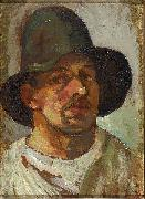 Selfportrait with hat. Theo van Doesburg