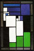 Stained-glass Composition Female Head. Theo van Doesburg