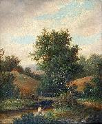 Fisherman on the River Bank William Yates
