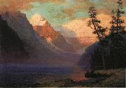 Evening Glow at Lake Louise, Rocky Mountains, Canada Bierstadt