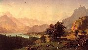 Bernese Alps, oil on canvas Bierstadt