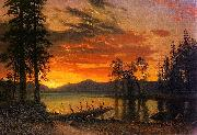 Sunset over the River Bierstadt
