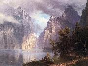 Scene in the Sierra Nevada Albert Bierstadt