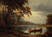 Salmon Fishing on the Cascapediac River Albert Bierstadt