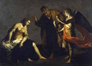 Saint Agatha Attended by Saint Peter and an Angel in Prison Alessandro Turchi
