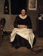 Old Woman Seated Antonio Puga