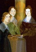 A painting of the three Bronta sisters Branwell Bronte