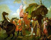 Lord Clive meeting with Mir Jafar at the Battle of Plassey in 1757 Francis Hayman