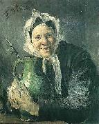 Old woman with a pitcher Fritz von Uhde
