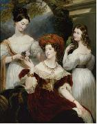Lady Stuart de Rothesay and her daughters, painted in oils George Hayter
