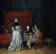 Three Figures conversing in an Interior, known as The Paternal Admonition Gerard ter Borch the Younger